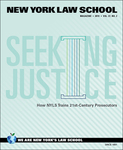 New York Law School Magazine, Vol. 37, No. 2 by Office of Marketing and Communications