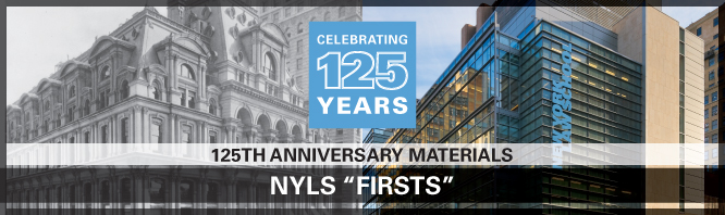 "NYLS ""Firsts"""