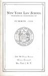 New York Law School 1950 Bulletin by New York Law School