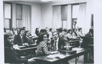 Students During a Lull in a Moot Court Competition, Circa 1980s