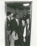 Students Riding An Elevator to Classes at 57 Worth Street with Vinnie, One of the Law School's Beloved Elevator Operators, Circa 1982