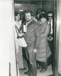 Students Riding an Elevator to Classes at 57 Worth Street with Carmelo, One of the Law School's Beloved Elevator Operators, Circa 1982