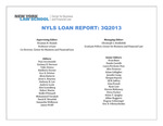 NYLS LOAN REPORT: 3Q2013 by New York Law School