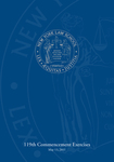 2011 Commencement Program by New York Law School