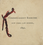 1892 Commencement by New York Law School