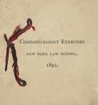 1892 Commencement