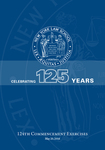2016 Commencement Program by New York Law School