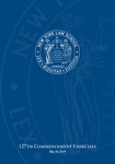 2019 Commencement Program by New York Law School