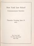 1951 Commencement Program