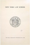 1966 Commencement Program by New York Law School