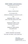 1968 Commencement Program (Special Convocation)