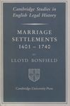 Marriage Settlements 1601-1740