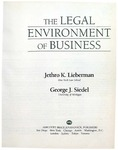 The Legal Environment of Business (1989)