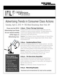 Advertising Trends in Consumer Class Actions by New York Law School