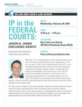 IP in the FEDERAL COURTS: JASON D. JONES DISCUSSES KIENITZ