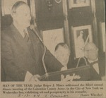 U.S. District Judge Roger J. Miner, '56, 1984 Columbia County Association's Man of the Year, addressing the 82nd annual dinner meeting in New York City, May 1984. by Roger J. Miner '56