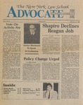 The New York Law School Advocate, February 11, 1983, vol 1, no. 5