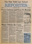 The New York Law School Reporter, vol III, no. 2, December 1985