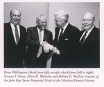 Dean Wellington Accepts Check from the Trustees of the John Ben Snow Memorial Trust at the 1995 5th Annual Scholars Dinner by New York Law School