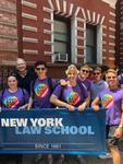 NYLS student organization Outlaws represented New York Law School and joined the LeGal Foundation at the 2018 NYC Pride March by New York Law School