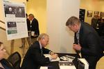 """Dean and Professor Emeritus James F. Simon at the book signing of """"Eisenhower vs. Warren"""" held on April 2018 by New York Law School"""