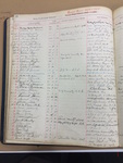 1923-1924 Student Register Page of Justice Harlan by New York Law School