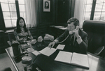 Dean E. Donald Shapiro (1973-1983) in his Office at 57 Worth Street, Circa Late 1970s