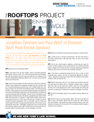 The Rooftops Project - Property Perspectives for Not-for-Profits